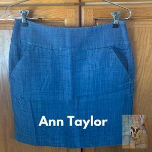 Ann Taylor blue skirt size 4